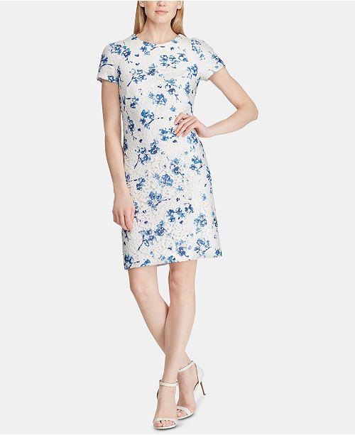 Lauren Ralph Lauren Floral-Lace A-Line Dress