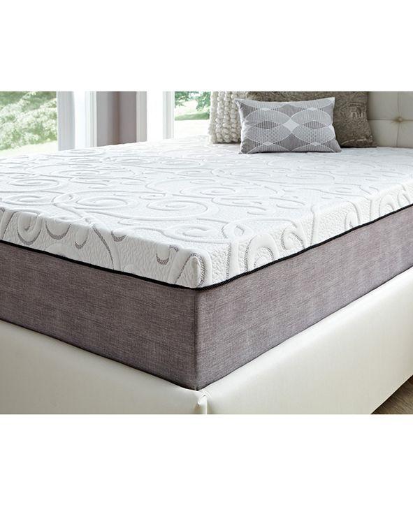 "Future Foam 14"" Comfort Loft Gray Rose with Ebonite Queen Memory Foam and Comfort Choice, Medium Firmness"
