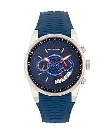 Morphic Quartz M72 Series, MPH7202, Blue Chronograph Silicone Watch 43MM