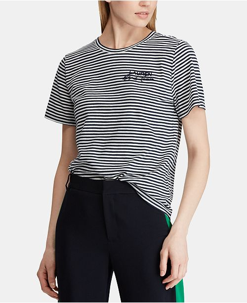 15749885a64eb Lauren Ralph Lauren. Striped Cotton T-Shirt. Be the first to Write a  Review.  59.50. main image  main image ...