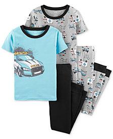 Carter's Little Boys 4-Pc. Rescue Vehicle Graphic Cotton Pajamas Set