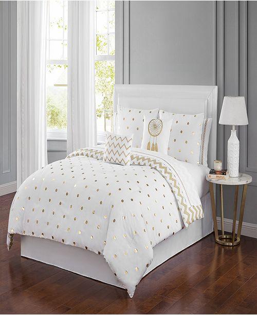 Sanders Dottie 6 Piece Comforter Set Queen