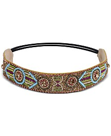 Deepa Crystal & Bead Mosaic Stretch Headband
