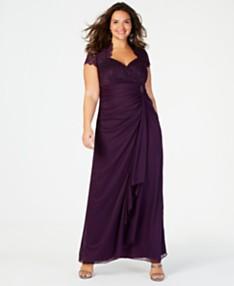 Purple Plus Size Dresses - Macy\'s