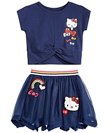 Hello Kitty Toddler & Little Girls T-Shirt & Skirt