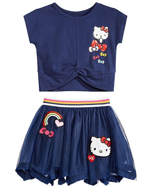 Hello Kitty Toddler & Little Girls T-Shirt & Skirt