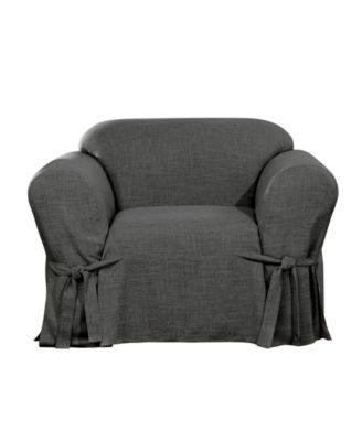 Textured Linen 1 Piece Chair Slipcover