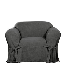 Sure Fit Textured Linen 1 Piece Chair Slipcover