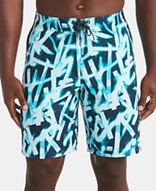"Nike Men's Glow Diverge Quick-Dry Printed 9"" E-Board Swim Trunks"