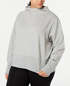 Nike Plus Size Fleece Funnel-Neck Training Top