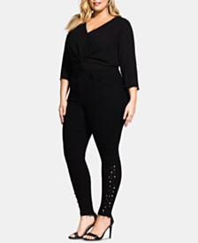 City Chic Trendy Plus Size Embellished Asha Jeans