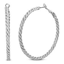 Rope Style Hoop Earring