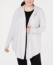 Ideology Plus Size Textured Hooded Wrap, Created for Macy's