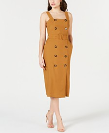 Lucy Paris Double-Button Dress