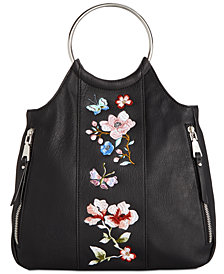 I.N.C. Kelindo Embroidered Bangle Crossbody, Created for Macy's
