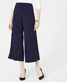 John Paul Richard Petite Side-Button Pants