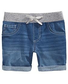Big Girls Icarus Knit Denim-Look Shorts