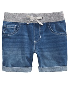 Vanilla Star Big Girls Icarus Knit Denim-Look Shorts