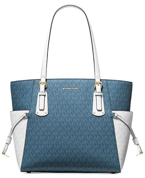 aac21302f8b2 Michael Kors Voyager East West Signature Tote   Reviews - Handbags ...
