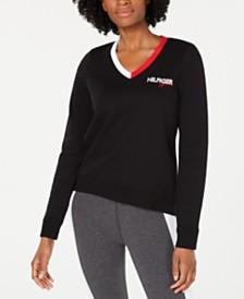 Tommy Hilfiger Sport Varsity V-Neck Sweatshirt