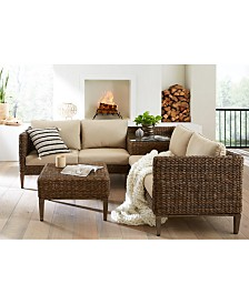La Palma Outdoor 2-Pc. Sectional Seating Set (1 Right-Arm Loveseat Sectional And 1 Corner Table With Arm), Created For Macy's