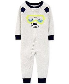 Baby Boys 1-Pc. Snorkel Bear Cotton Pajamas