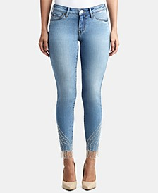 Halle Rhinestone-Fringe Jeans