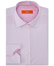 Men's Slim-Fit Non-Iron Performance Stretch Striped Dress Shirt