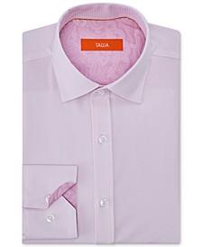 Men's Slim-Fit Non-Iron Performance Stretch Striped Dress Shirt