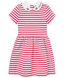 Polo Ralph Lauren Toddler Girls Ponté-Knit Striped Fit & Flare Dress