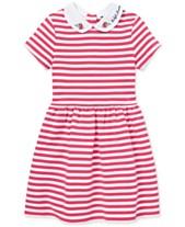 809d858a58a Polo Ralph Lauren Toddler Girls Ponté-Knit Striped Fit   Flare Dress