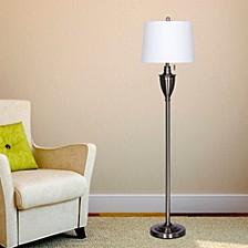 """1589BS 61"""" Classic Urn Brushed Steel Metal Floor Lamp"""