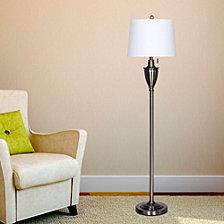 """Fangio Lighting's 1589BS 61"""" Classic Urn Brushed Steel Metal Floor Lamp"""