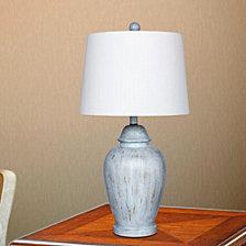 "Fangio Lighting's 6255BLU 27.5"" Resin Ginger Jar Table Lamp"