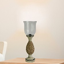 "Fangio Lighting's 6262 20"" Antique Resin Pineapple Uplight"