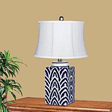 "Fangio Lighting's 8989 22.5"" Curves Ceramic Table Lamp"