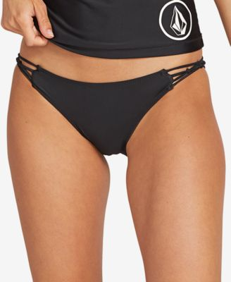 Juniors' Simply Solid Cheeky Bikini Bottoms