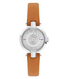 Furla Women's Linda Silver Dial Calfskin Leather Watch