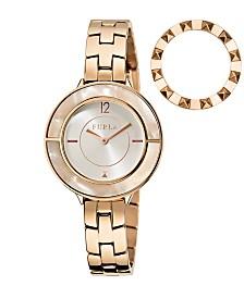 Furla Women's Club Silver Dial Stainless Steel Watch