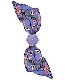 Women's Giada Bandeau Purple Dial Silk Watch
