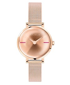 Women's Mirage Rose Gold Dial Stainless Steel Watch