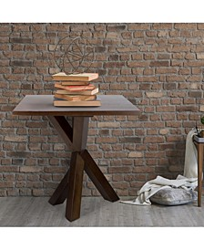 """Ridgefield End Table with 1"""" Thick Solid Walnut Wood Top"""