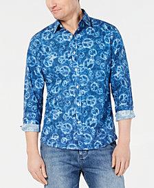 Michael Kors Men's Slim-Fit Peace-Print Shirt