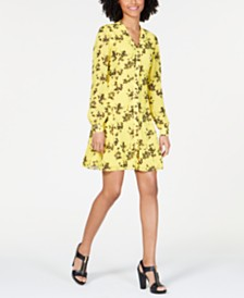 MICHAEL Michael Kors Printed Button-Down Dress