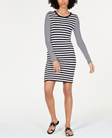MICHAEL Michael Kors Striped Dress, Regular & Petite