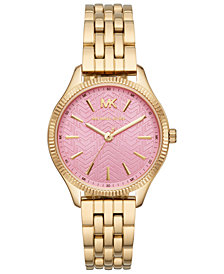 Michael Kors Women's Lexington Gold-Tone Bracelet Watch 36mm