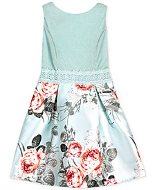 BCX Big Girls Plus Floral-Print Dress