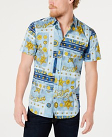 Versace Men's All-Over Graphic Shirt