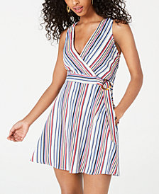 Speechless Juniors' Striped A-Line Dress