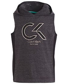 Calvin Klein Performance Big Girls Hooded Colorblocked Tank Top